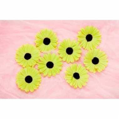 Kinderkamer deco bloemetjes lime voor klamboes 12 stuks
