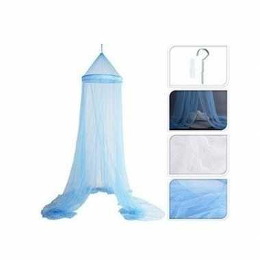 Lichtblauw muskietennet/klamboe 250 x 60 cm
